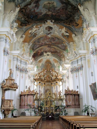 The interior of St. Paulinus Church in ___, Germany was designed by Balthasar Neumann.
