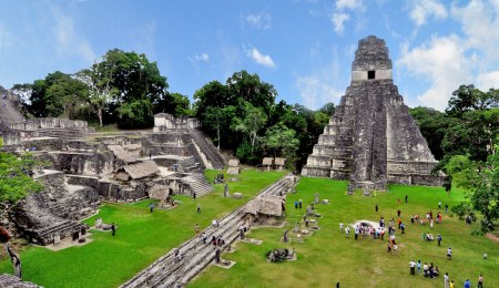 The ruins of Tikal in Guatemala.