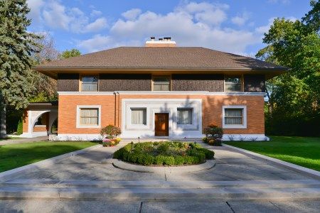 The Winslow House by Frank Lloyd Wright, in River Forest, Illinois.