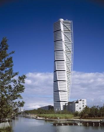 Architect: Santiago Calatrava, Zurich (Switzerland) Project: Turning Torso, office + apartment building, Malmoe (Sweden) Malmö