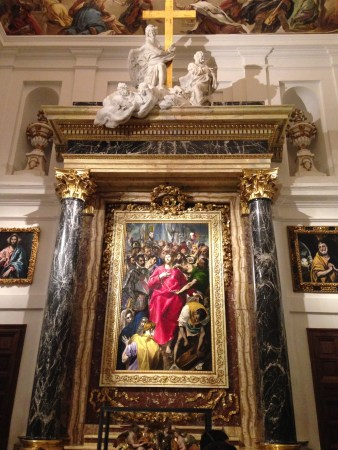 El Greco's The Disrobing of Christ is located in the Cathedral of Toledo, Spain.