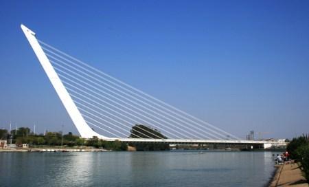 Puente del Alamillo is a bridge designed by Santiago Calatrava and located in Seville, Spain.