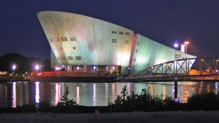 Renzo Piano designed the Science Centre NEMO in Amsterdam.