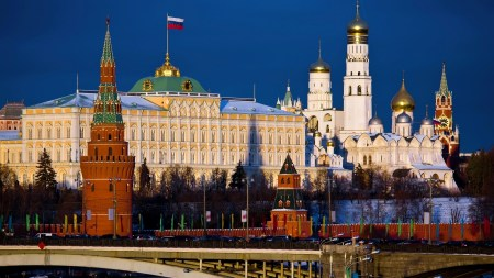 A view of the Kremlin in Moscow.