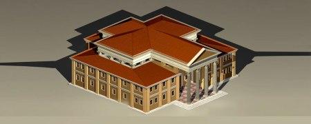A hypothetical reconstruction of the Basilica di Fano, based on Vitruvius's description.