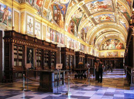 Juan de Herrera designed numerous aspects of the El Escorial complex, including the library, shown above.