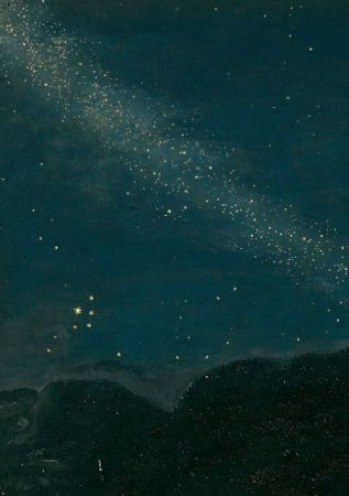 Adam Elsheimer's The Flight into Egypt is set at night, and includes one of the first accurate depictions of the Milky Way and several constellations, as seen in the detail above.
