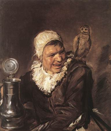 Malle Babbe (translated as Crazy or Loony Babs) was a real person who lived in Haarlem, The Netherlands in the early 17th Century. It is not clear if she was addled by alcoholism or some other mental illness.