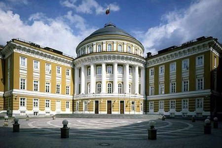 Matsay Kruschev designed the Kremlin Senate in Moscow, shown here.