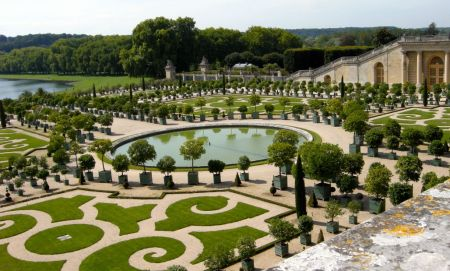 Jules Hardouin-Mansart designed many aspects of the Palace of Versailles, including the Orangerie, shown here. Photo by Rachel Kaplan.
