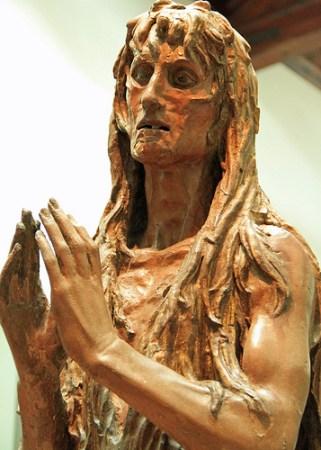 Donatello's sculptural portrait of the Penitent Mary Magdalene.