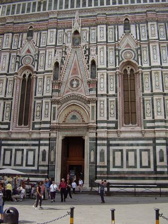 Among Francesco Talenti's contributions to the Florence Cathedral was the Porta del Campanile, shown here.