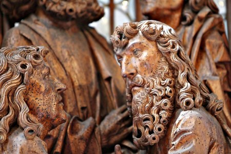 Detail from the central panel of Tilman Riemenschneider's Holy Blood Altarpiece.