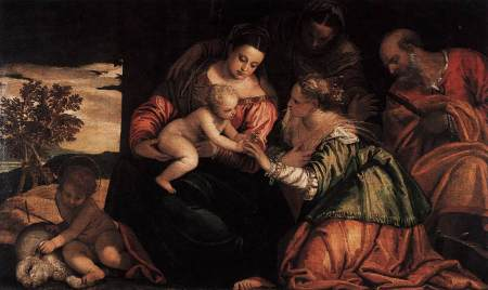 The Mystic Marriage of St. Catherine, by Paolo Veronese.