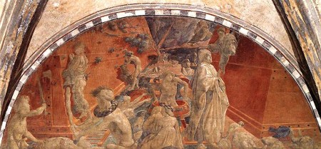 Paolo Uccello painted the fresco The Flood on the walls of the Green Cloister in Florence's Church of Santa Maria Novella.