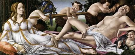 Venus and Mars, by Sandro Botticelli.