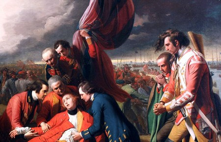 Detail from Benjamin West's Death of General Wolfe.