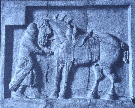 Yan Liben was primarily known as a painter, but he was also a sculptor. He carved the relief sculpture Six Steeds of the Emperor.