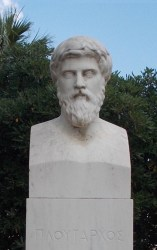 A bust of Plutarch, located at Chaeronea.
