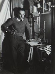 """Self Portrait Standing in Dark Room"" is a 1932 photograph by Brassaï."