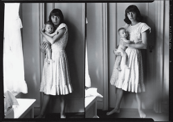 """""""Double Self Portrait with Doon"""", a 1945 diptych by Diane Abbott (later Diane Arbus)."""