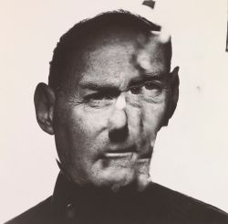 """""""In a Cracked Mirror"""", a 1986 self portrait by Irving Penn."""
