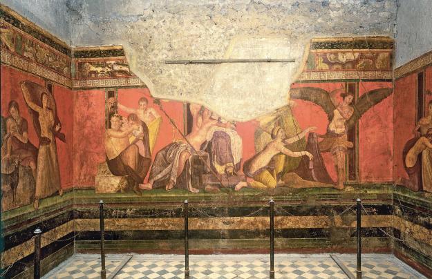 villa of the mysteries fresco