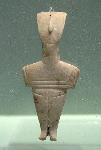 Cycladic_figurine,_female,_marble,_Crete,_2800-2200_BC,_AM_Chania,_076188