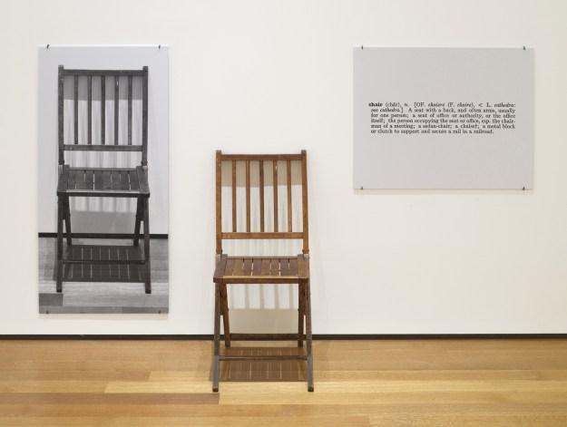 one and three chairs kosuth