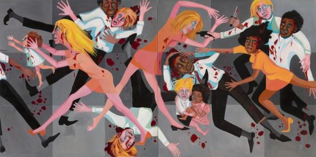 Ringgold - American People SEries #20 - Die (1967) MOMA