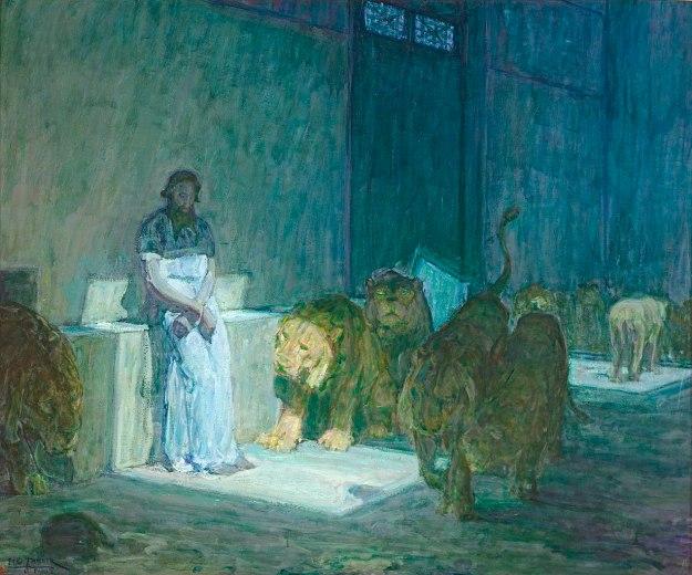 Tanner - Daniel in the Lions' Den (1907-18) LA County Museum