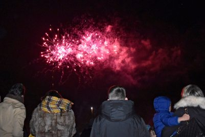 kids watching fireworks in beckenham