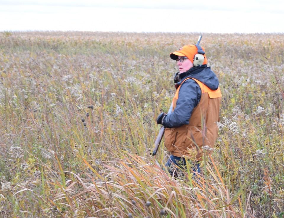 Jamie pheasant hunting