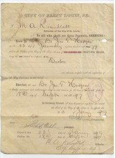 STL city collectors document 1879