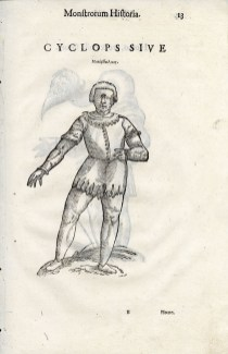 Cyclops, page 13, Aldrovandi's Monstrorum historia, 1642. BBML