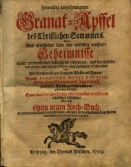 The title page for Eleonara Maria Rosalia's work was printed in red and black.