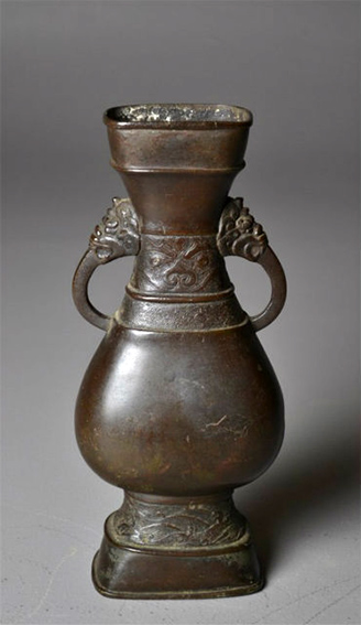 Chinese Yuan Dynasty Bronze Vase 13th Century Becker Antiques