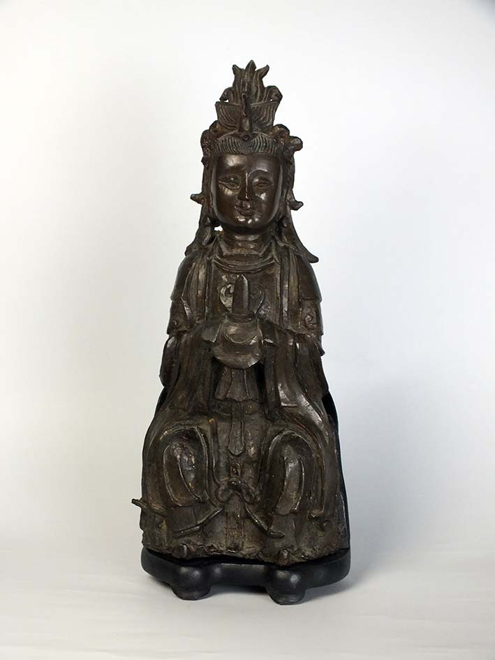 Ming Dynasty Bronze Figure of the Primordial Princess Bixia Yuanjun
