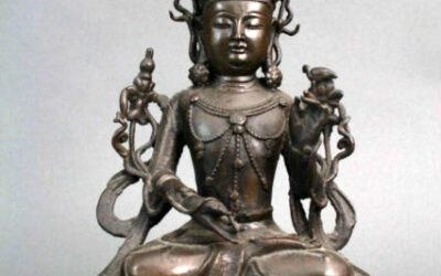 Chinese Bronze Figure – Seated Manjushri
