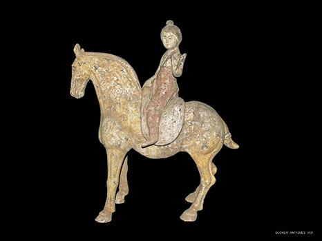 Tang-Horse-&-Detachable-Equestrian-Figure