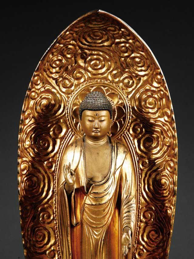 Gilt Japanese Buddha