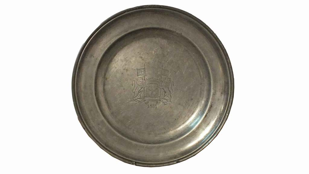 Large Pewter Plate