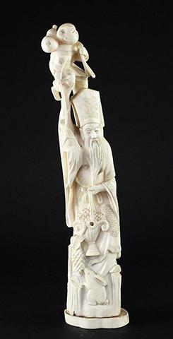 Japanese Ivory Okimono (1)