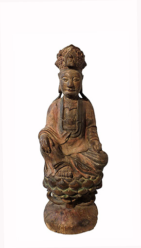 Lovely Large Wood Guanyin