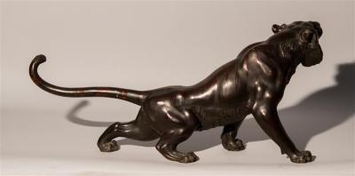 Meiji Period Bronze Tiger  (4)