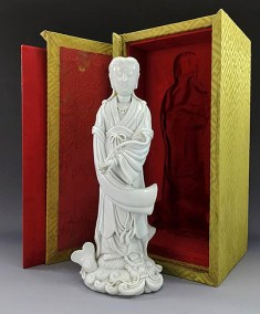 18TH C BLANC de CHINE GUANYIN (1)