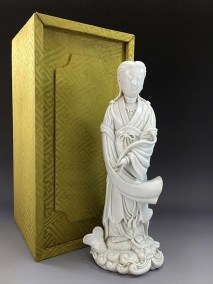 18TH C BLANC de CHINE GUANYIN (9)
