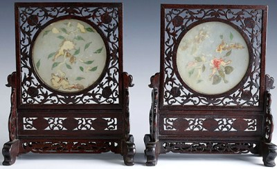 WHITE JADE TABLE SCREENS (8)