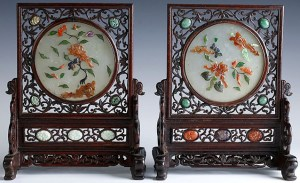 WHITE JADE TABLE SCREENS