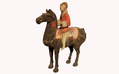 Pottery Equestrian Figure